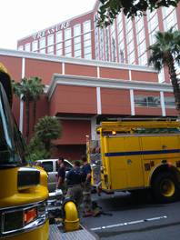 Hotel fire and smoke damage