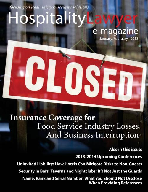 2013 Hospitality Lawyer Jan Feb cover