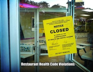 Restaurant Health Code Violations