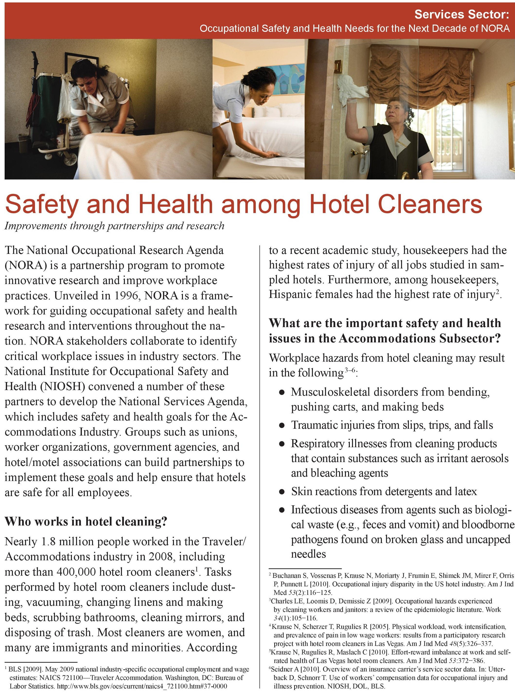 CDC Hotel Safety and Health Among Hotel Cleaners