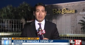 Restaurant Sink Hole Damage
