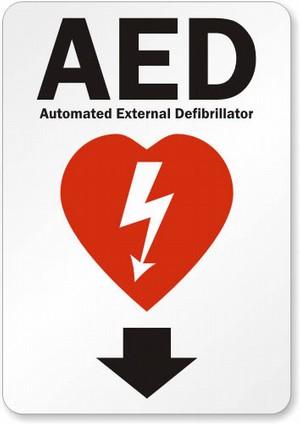 AED Defibrillator Sign