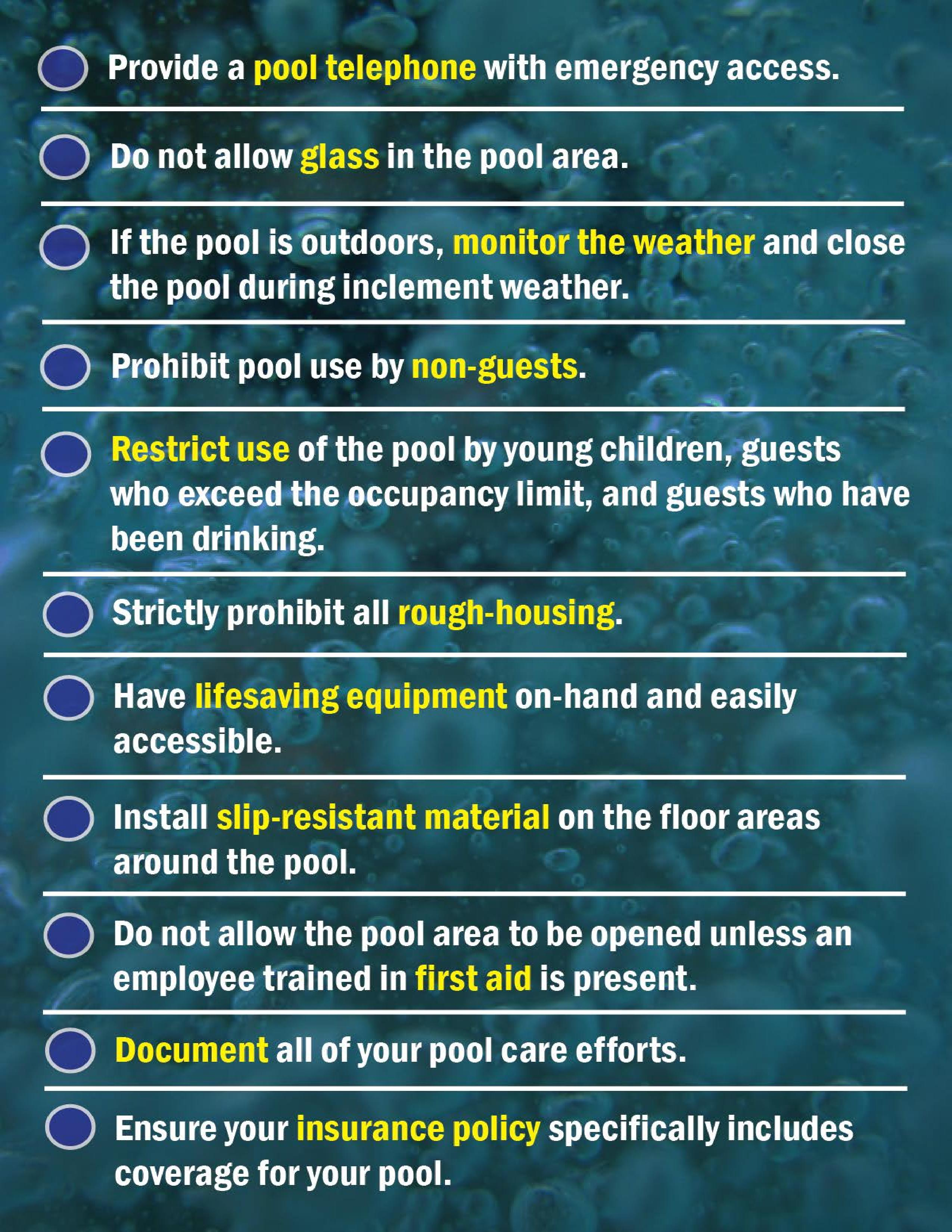 Pool safety archives hospitality risk solutions - Commercial swimming pool safety equipment ...