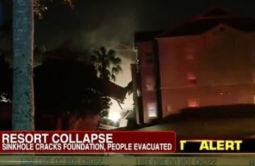 Hotel Resort Sinkhole Damage