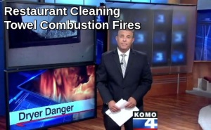 Restaurant Cleaning Towel Combustion Fires