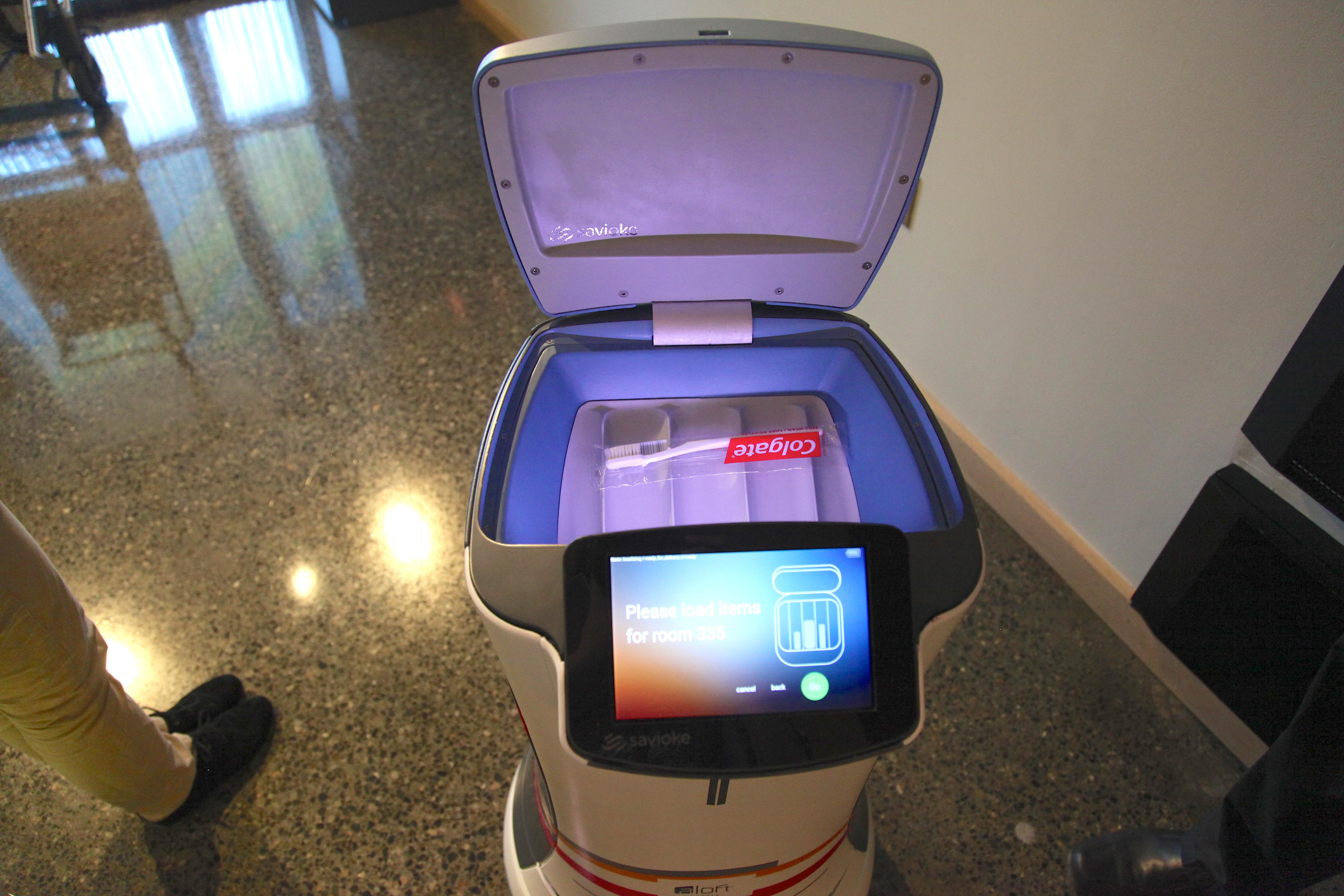 Robot Room Service Elevator
